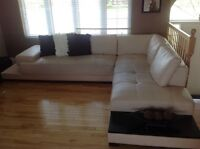 Sectional bonded leather
