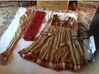 """Indian suit 3 pieces size: 12/40"""" used £15"""