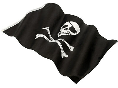 Piraten Kostüm Flag Jolly Roger Schädel & Gekreuzte Knochen 152 X 91cm ()