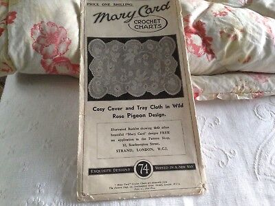 MARY CARD CROCHET CHART  / PATTERN 74