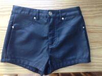 Forever 21 black short high waist (leather texture)