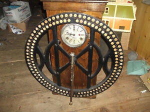 ANTIQUE TIME PAY ROLL PUNCH CLOCK,