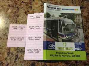 Fredericton Transit Bus Tickets - Six (6)