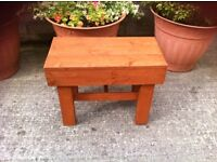 Small wooden table handmade solid