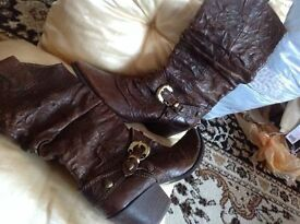 Brand new Moda pele leather cowboy boots brown colour size: 39/6 £5