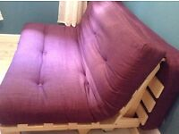 Double futon sofa bed with additional under bed storage