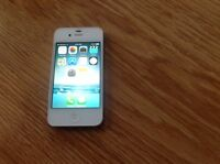 iPhone 4 white and silver in great condition