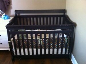 Crib and bedding