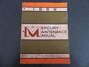 1956 Mercury shop manual London Ontario image 1