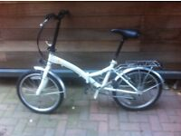 Nearly New Folding City Bike