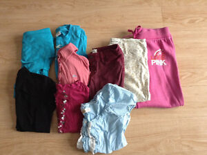 Lot of 9 ladies /juniors size xs brand name asst. clothing lot