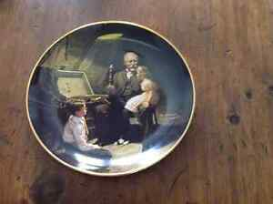 * 1984 ROCKWELL - BRADFORD EXCH PLATE ~ GRANDPA'S TREASURE CHEST