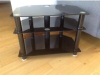 Black TV stand - excellent condition