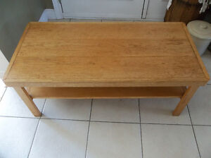 Solid wood coffee table perfect for small space
