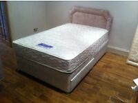 Slumberland Small Double Divan + Headboard
