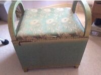 Lloyd Loom vintage bedroom storage stool