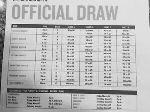 Brier 2017 Single Draw Tickets for sale!  Great seats!