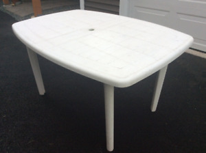 White Rust Proof Patio Table