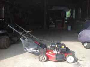 Craftman Lawn mowers for sale 1 ride on and one self propelled