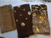 Ladies indian suits material 3 pieces £9