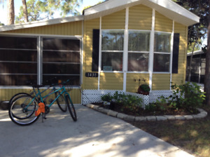 For rent Mobile home in Sarasota Florida, sun n fun rv park.