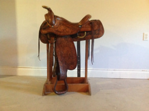 Western TexTan saddle for sale