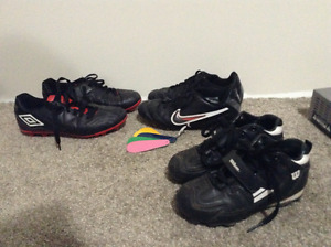 Youth / kids soccer cleats size 2 &4, baseball cleats size 12