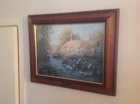 Mainly landscape solid wood framed pictures