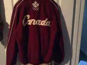 Vintage Team Canada Melton cloth and leather coat small Windsor Region Ontario image 3