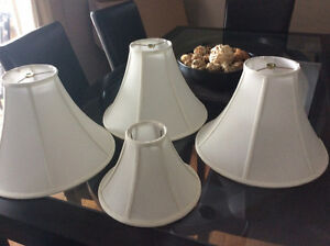 3 lampshades plus extra small shade $20 for the set