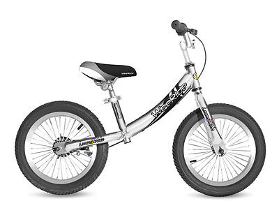 A WeeRide Deluxe Balance Bike 3-5 Years like Running Training Silver
