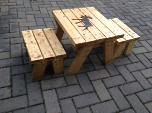Handbuilt child's table & chair set
