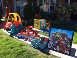 Lots of Toys to Enjoy-Little Tikes Car, Castle, Activity Center