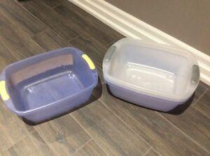 Dish tub/ storage bins. $1/each