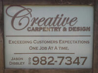 Creative Carpentry now booking spring builds.