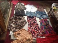 Bundle of clothes ladies size: 6/8 used 14 items £9