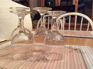 4 Rounded crystal glasses Sparkle West Island Greater Montréal image 1