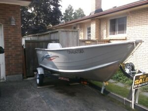 2013 Smoker Craft fishing boat (13' - high sides).