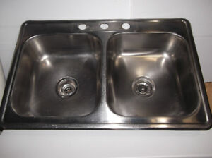Used Double Stainless Steel Sinks