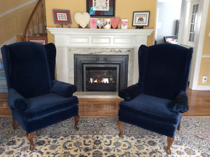2 Queen Anne Wing Chairs