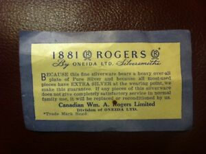 Rogers 1881 by Oneida Silver Plated Flatware London Ontario image 2