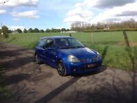 24/7 Trade sales NI Trade Prices for the public 2004 Renault Clio 2.0 182 Sport Blue
