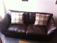 M & S 4 seater leather sofa