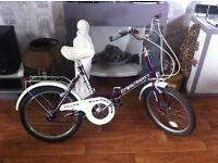Universal stowaway3 Folding Bike with gears