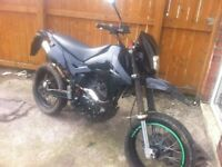 15 plate Lexmoto adrenaile 125 with 150cc big bore kit to go on also spare frame and engine