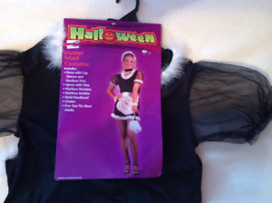 Adult one size Duster Maid Costume