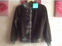 Brand new Missguided Size 6/8 Tall Velvet Bomber Zipper Jacket £4