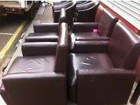 4 x leather Chairs / free Glasgow delivery