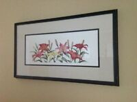 Beautifully Framed Art Print Of Lilies