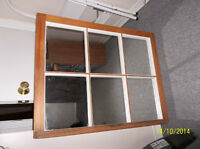 "NEW PRICE-Wooden antique window mirror 27"" x 35"""